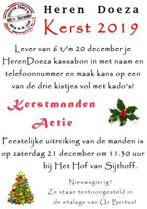 Kerstmandenactie van HerenDoeza